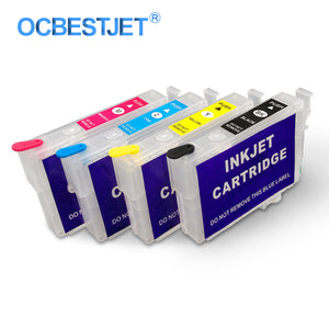 4Colors/Set T1711-T1714 Refillable Ink Cartridge For Epson XP-103 XP-203 XP-207 XP-33 XP-303 XP-306 XP-313 XP-406 XP-413 Printer