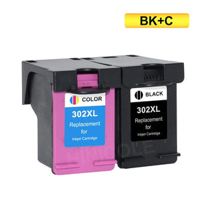 HINICOLE 302XL Ink Cartridge Replacement for HP 302 XL For HP302 Cartridges for Deskjet 4650 1110 1111 1112 2130 2131 Printer