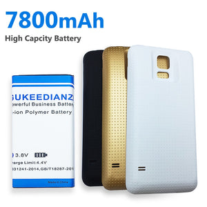 7800mAh EB-BG900BBC High Capacity Battery For Samsung Galaxy S5 S 5 GT i9600 G900 SM G900A G900H G900F + Batery Door Case