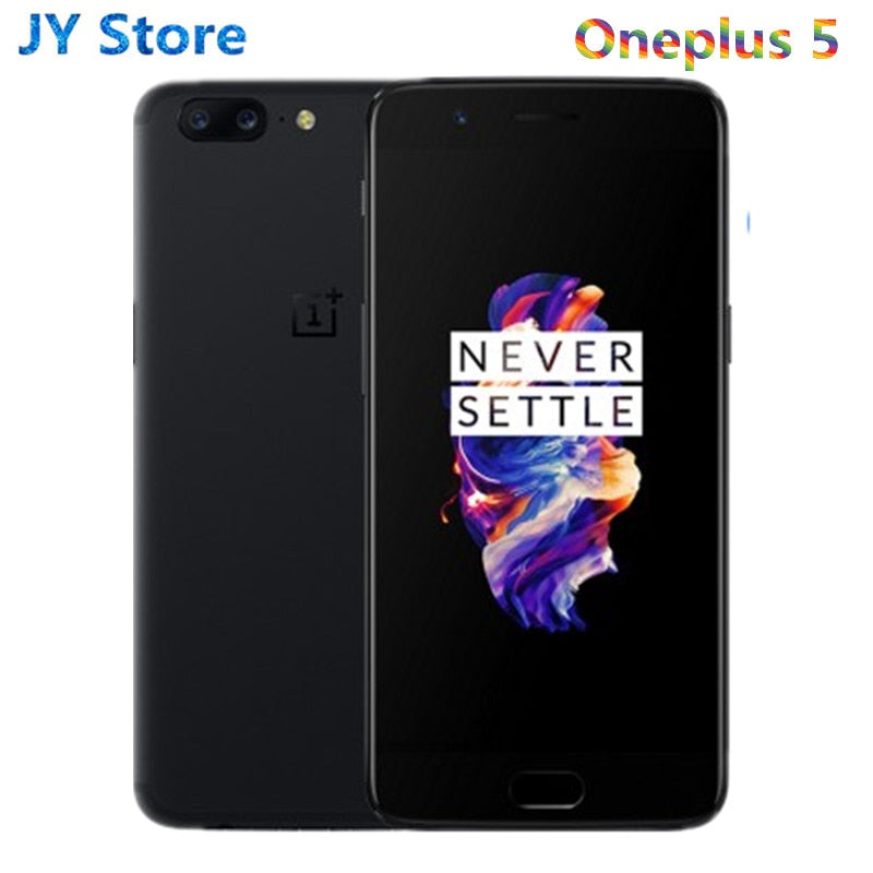 Original New Oneplus 5 6GB RAM 64GB ROM Snapdragon 835 Octa Core Android Dash Charge Fingerprint Recognition One Plus Cellphone