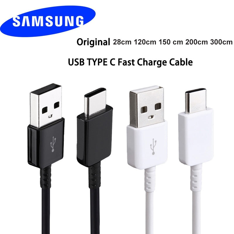 Original 100cm/150cm USB 3.1 TYPE-C Fast Charging Data Cable For Samsung Galaxy A80 A70 A60 A50 A40 A30 S8 S9 plus S10e Note 8 9