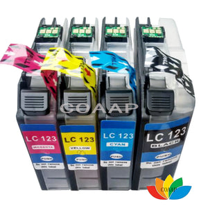 4pcs Compatible LC121 LC 123 LC123 ink cartridge For Brother DCP-J552DW DCP-J752DW MFC-J470DW MFC-J650DW Inkjet Printer