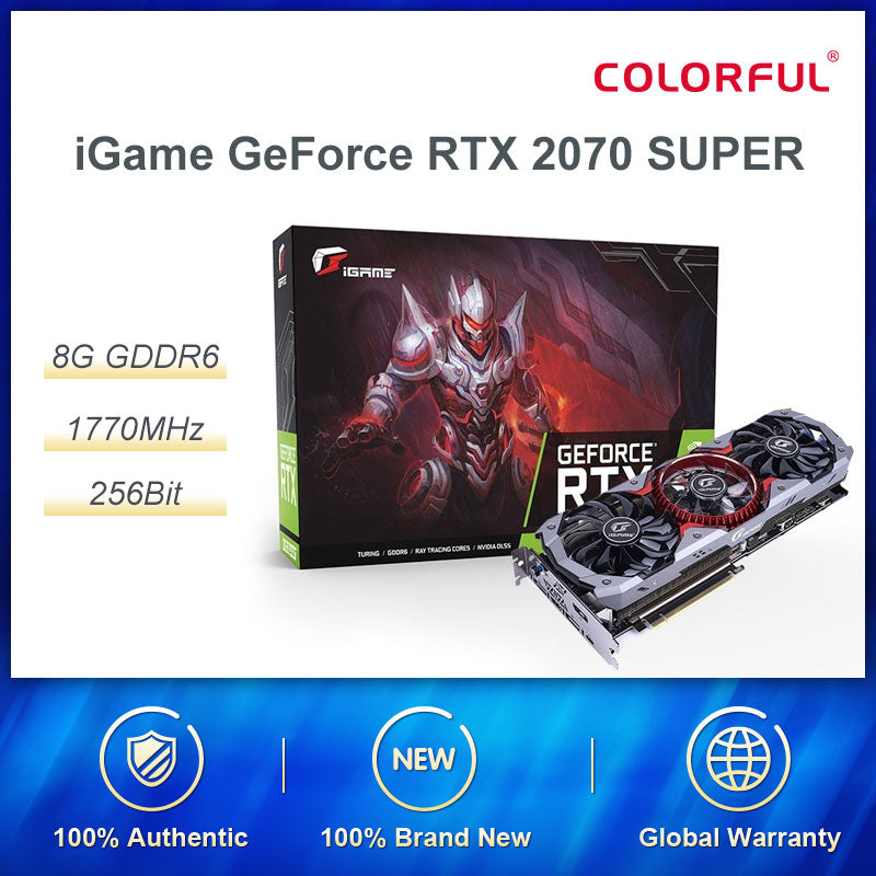 Colorful iGame GeForce RTX 2070 SUPER Graphic Card Advanced OC Nvidia GDDR6 256bit GPU 8G RTX2070 Video Card HDMI Game Computers