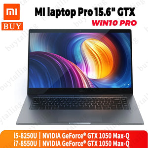 Original Xiaomi Mi Notebook Pro 15.6 inch Intel Core i5-8250U/i7-8550U NVIDIA GeForce GTX 1050 Max-Q Fingerprint ID