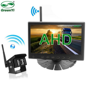 7 Inch HD AHD Digital Wireless WiFi Signal Truck Bus Vehicle Parking Monitor With Wireless Rear View Reverse Backup IR Camera