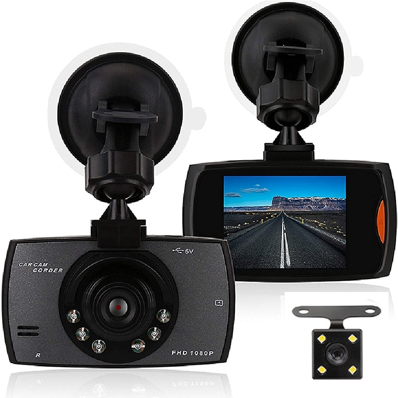 "G30 Car DVR Dash Camera Rear View Dual Lens Video Recorder 1080P HD 2.2"" Loop Recording Night Vision G-sensor Dash Cam Registrar"