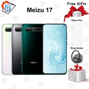 Original Meizu 17 5G Mobile Phone 6.6 inch 8G RAM + 128G ROM Snapdragon 865 Octa-core support NFC 30W Quick Charger Smartphone