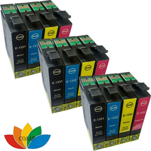 12PK t1331 t1332 t1333 t1334 compatible inkjet cartridge for Stylus NX130 NX430 Office TX320F TX325F etc