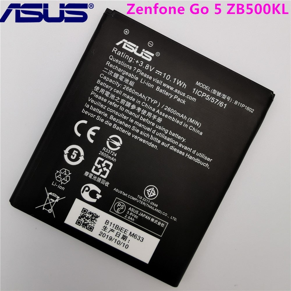 "ASUS 100% Original B11P1602 2600mAh NEW Battery For Asus Zenfone Go 5"" ZB500KL X00ADA X00AD X00ADC CellPhone Battery"