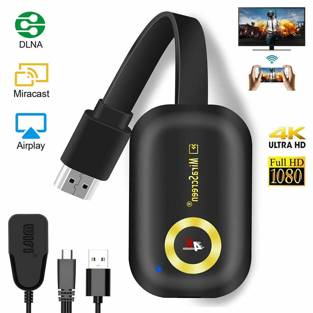 4K 2.4G WIFI 1080P Wireless Display Dongle TV Stick G9 Miracast Adapter HDMI Mirror Miracast Airplay DLNA Receiver for Android