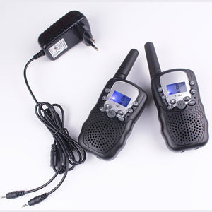2pcs walkie talkies T388 PMR446 mobile radio communicator VOX FRS/GMRS talkie radios led flashlight + EU or US charger plug
