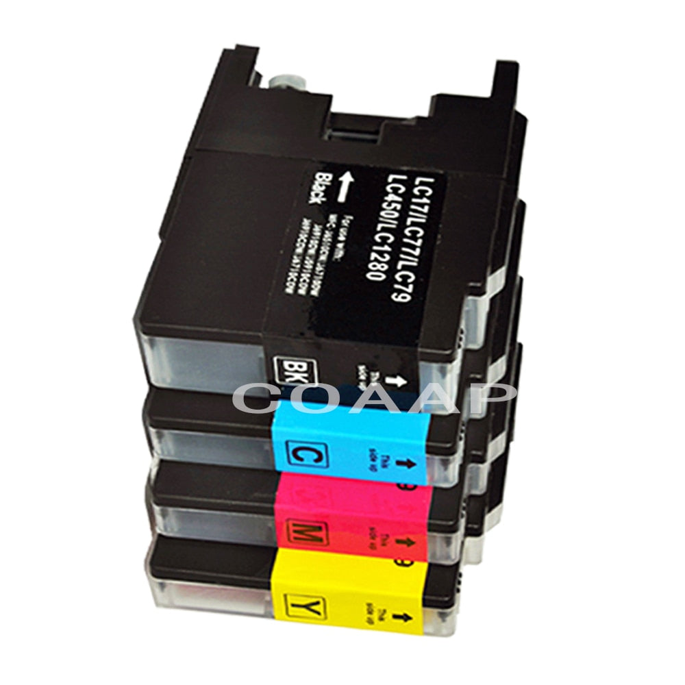 1Set Ink cartridge Compatible Brother LC1240 LC1280 For Brother MFC J6510DW J6710 J6910DW J6710DW J430W J5910DW J625DW printer