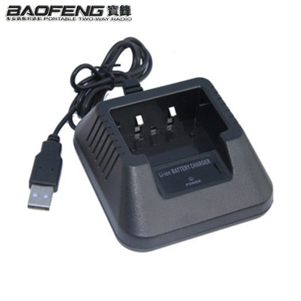 Baofeng UV 5R USB Desktop Battery Charger For Uv-5r 5re Parts Tabletop Li-Ion Charge cb radio Baofeng Walkie Talkie Accessories