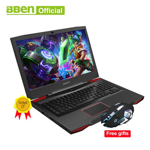 BBEN G17 17.3 inch Gaming Laptop i7 cpu GDDR5 NVIDIA GTX1060 Windows10 DDR4 32GB+512GB SSD+1TB HDD RGB Mechanical Keyboard