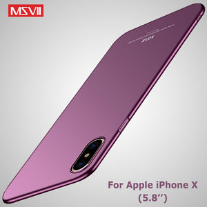 MSVII Cover For iPhone X XS XR Case Ultra Thin Luxury Matte Coque For Apple iPhone XS Max Case Hard PC Cover For iPhone X S Case