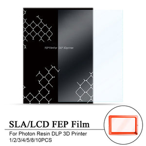 1/2/3/4/5/8/10PCS 140x200mm SLA/LCD FEP Film 0.15-0.2mm Thickness For Photon Resin DLP 3D Printer