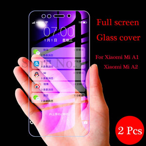 2Pcs/lot Tempered Glass For Xiaomi Mi A1 A2 5X 6X Screen Protector Full Cover Protective Phone Film For Xiaomi Mi A1 A2 Glass