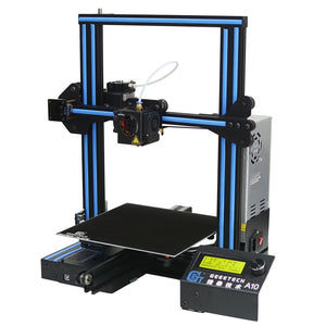 Geeetech A10 Aluminum I3 3D Printer 220*220*260mm Printing Size  Fast Assembly  Support Remote Control LCD Display 3D Prin