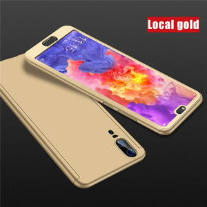 Luxury 360 Full Cover Glass Case For Huawei P30 P20 Mate20 Lite P Smart Y7 Y6 PRO Y9 2019 Nova 3 3i 3E P10 P9 Protective Cover