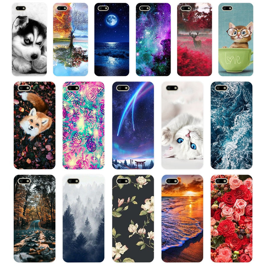 "B Silicone case For Huawei Honor 7A Case 5.45"" inch Soft Phone Case Huawei Honor 7A 7 A DUA-L22 Russian Back Cover Coque bumper"