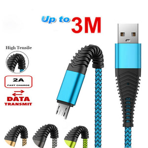 1M 2M 3M Micro USB Fast Charging Phone Data Charger Cable For Samsung S4 S5 S6 S7 Edge For Samsung Galaxy A3 A5 A7