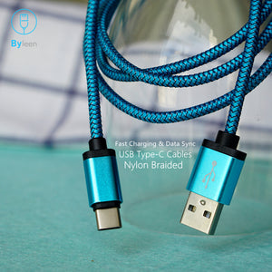 Byleen Metal plug USB Type C Charger for Samsung Galaxy Note 8 9 S8 S9 PLUS A9 STAR A7 HTC U11 U12 + U10 Life Fast Charger