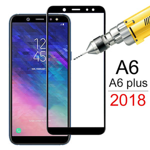 Tempered Glass For Samsung Galaxy A6 2018 A6plus A600F Screen Protector on the For Samsung A6 Plus A6+ A 6 Protective Film Cover