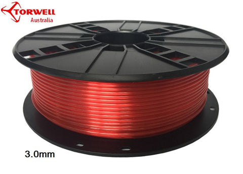 PETG 3D printer filament Red 1.75mm Or 3.0mm