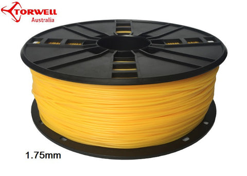Flex 3D printer filament Yellow 1.75mm Or 3.0mm
