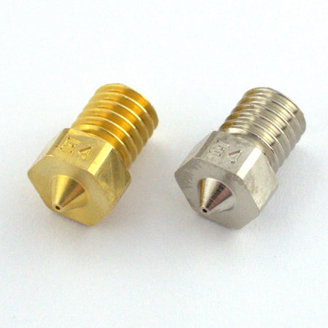 Duraplat Coated E3d V6 compatable Nozzles with free Shipping.