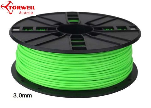 ABS 3D printer filament Fluorescent green 1.75mm Or 3.0mm