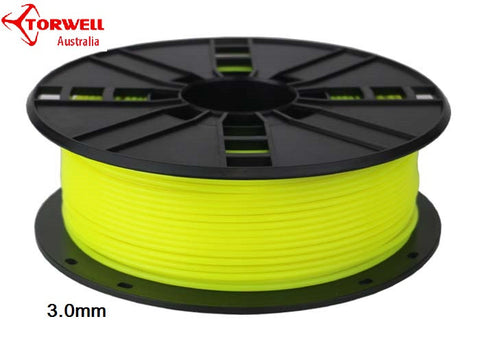 ABS 3D printer filament Fluorescent yellow 1.75mm Or 3.0mm