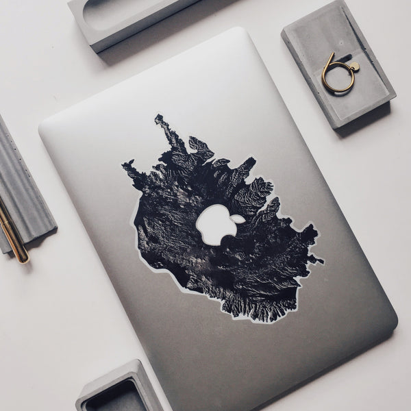 MacBook decal - EARTH Arctic