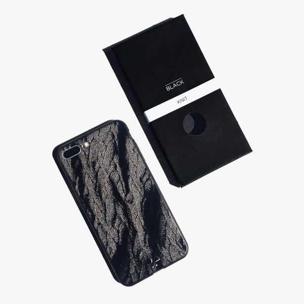 iPhone Case - Black Knit [Limited Gloss Edition]