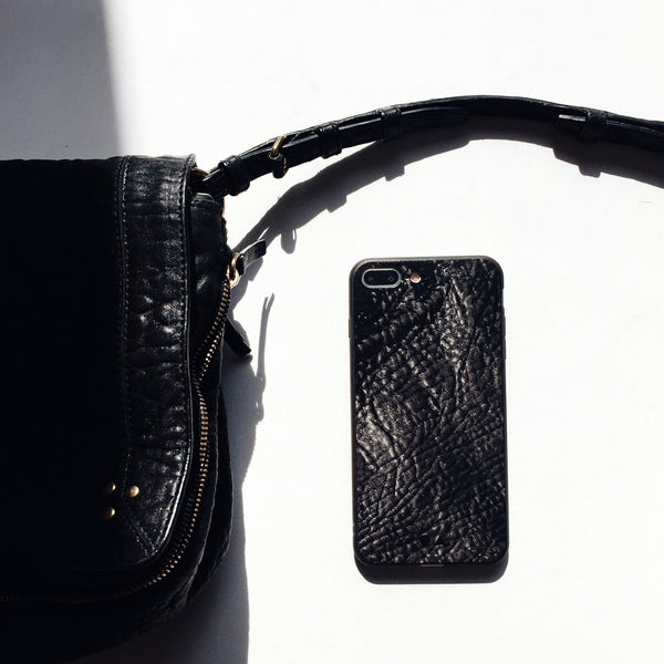 iPhone Case - Black Leather [Limited Gloss Edition]