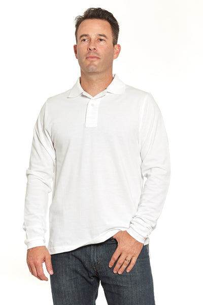 Fancy White Polo (Shortsleeve & Longsleeve)