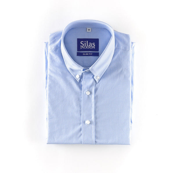The Blue Microcheck Shirt