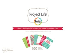 AC - Project Life - Merry and Bright Edition - 100 Cards