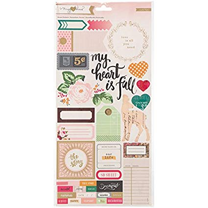 American Crafts - AC - Maggie Holmes - Open Book - Phrase/Accent Stickers
