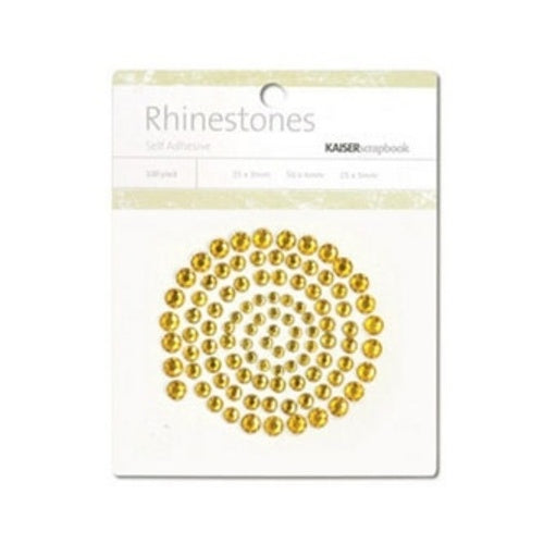KAISERCRAFT RHINESTONES - YELLOW DEEP