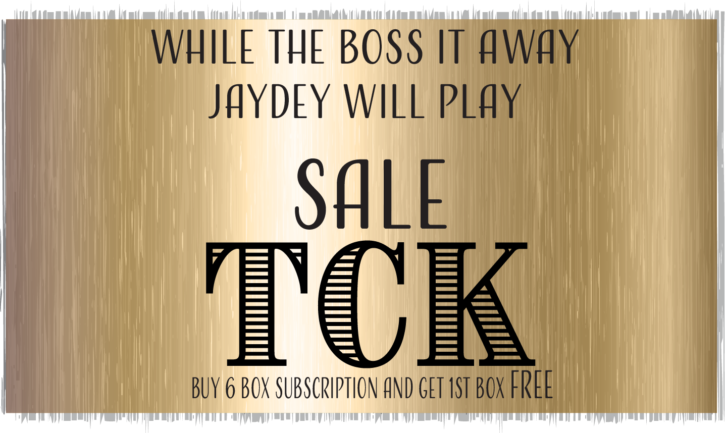 While to Boss is Away SALE - TCK