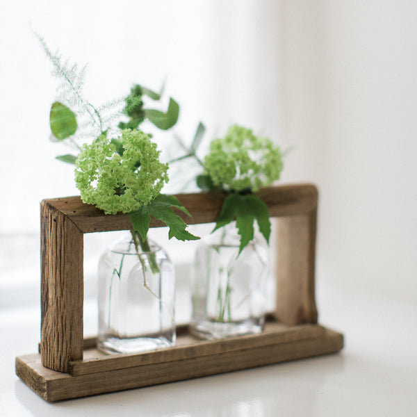 Wooden Frame with 2 Glasses - Medium