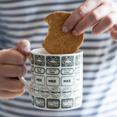 Illustrated Biscuit Mug
