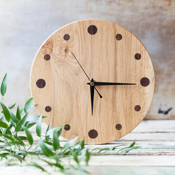 Handcrafted Oak Clock