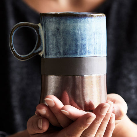 Artisan Clay and Copper Mug