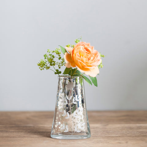 Etched Glass Vase