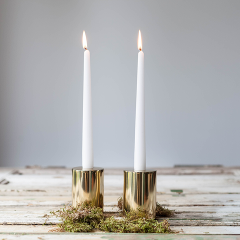 Luxe Round Candle Holder - Brass