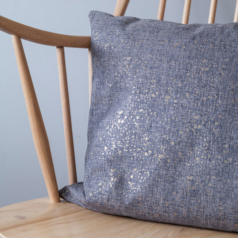 Grey With Gold Fleck Cushion