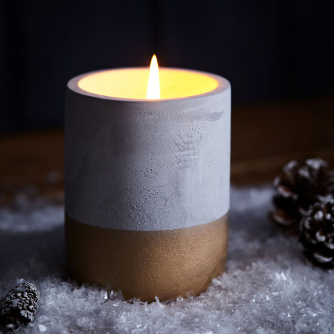 Half Dipped Concrete Scented Candle