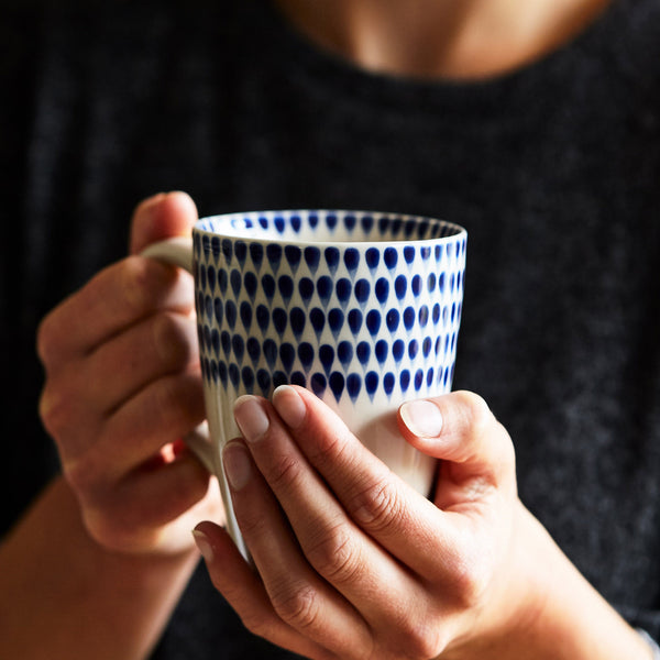 Cobalt Tear Drop Mug